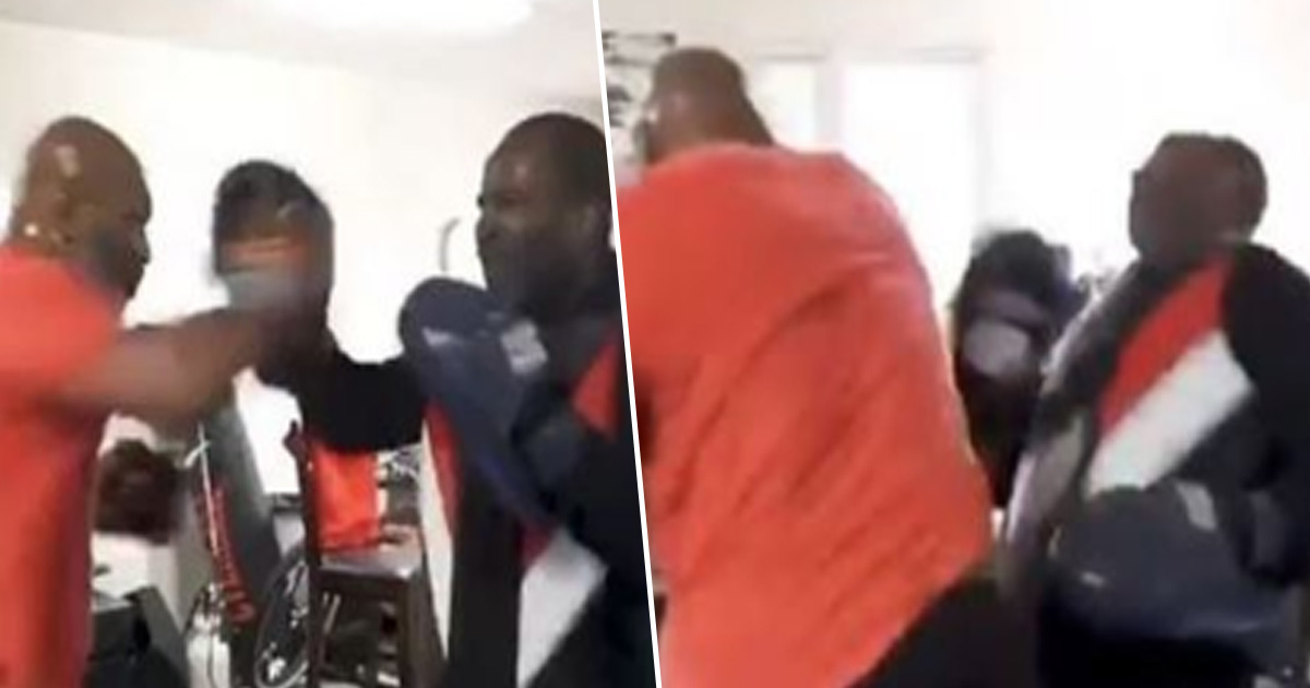 Mike Tyson Proves He's Still Got It While Training With Friend
