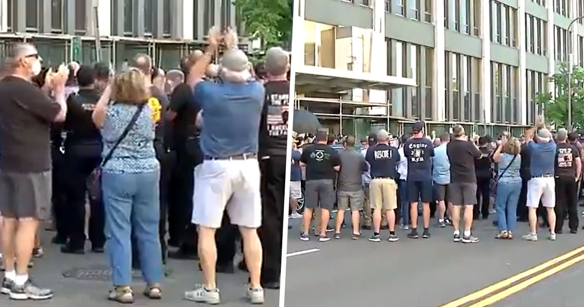 Huge Crowd Cheers For Buffalo Cops Charged With Shoving 75-Year-Old Protester