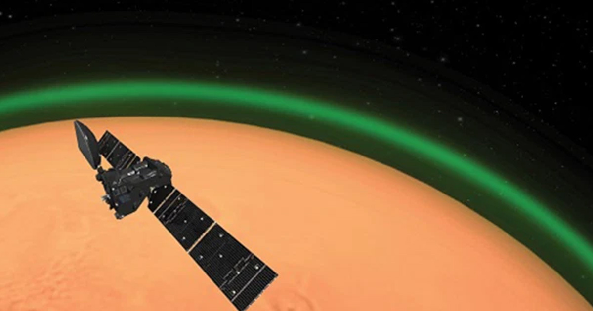 Scientists Just Discovered Mars' Atmosphere Has Been Glowing Green