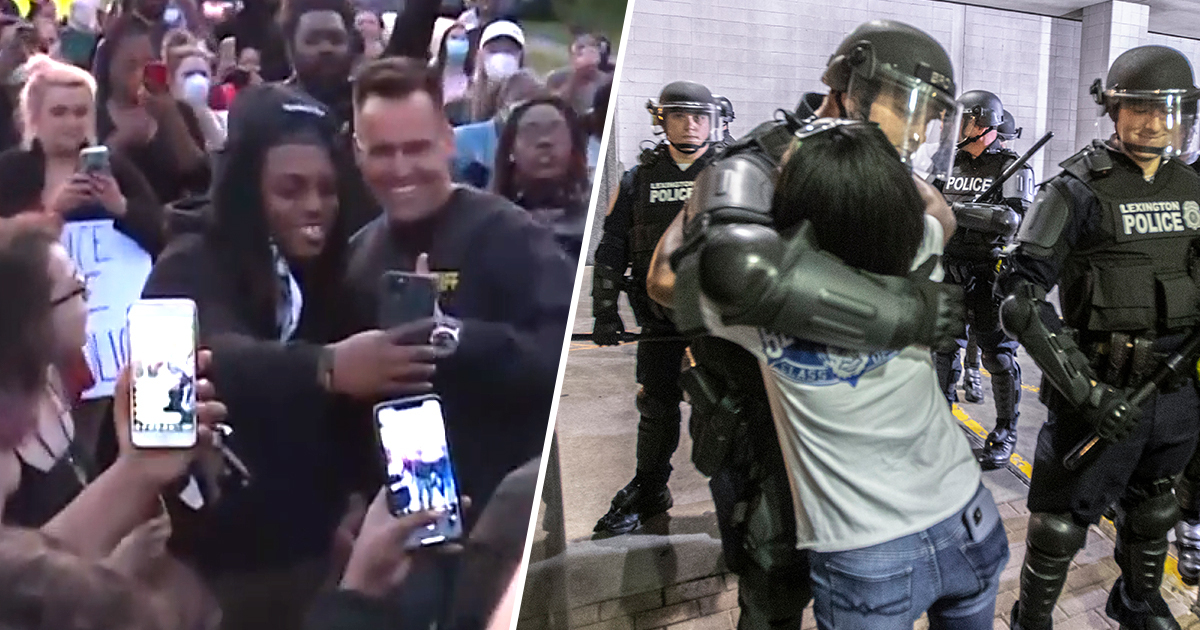 Michigan Sheriff Took Off His Helmet And Marched With Protesters