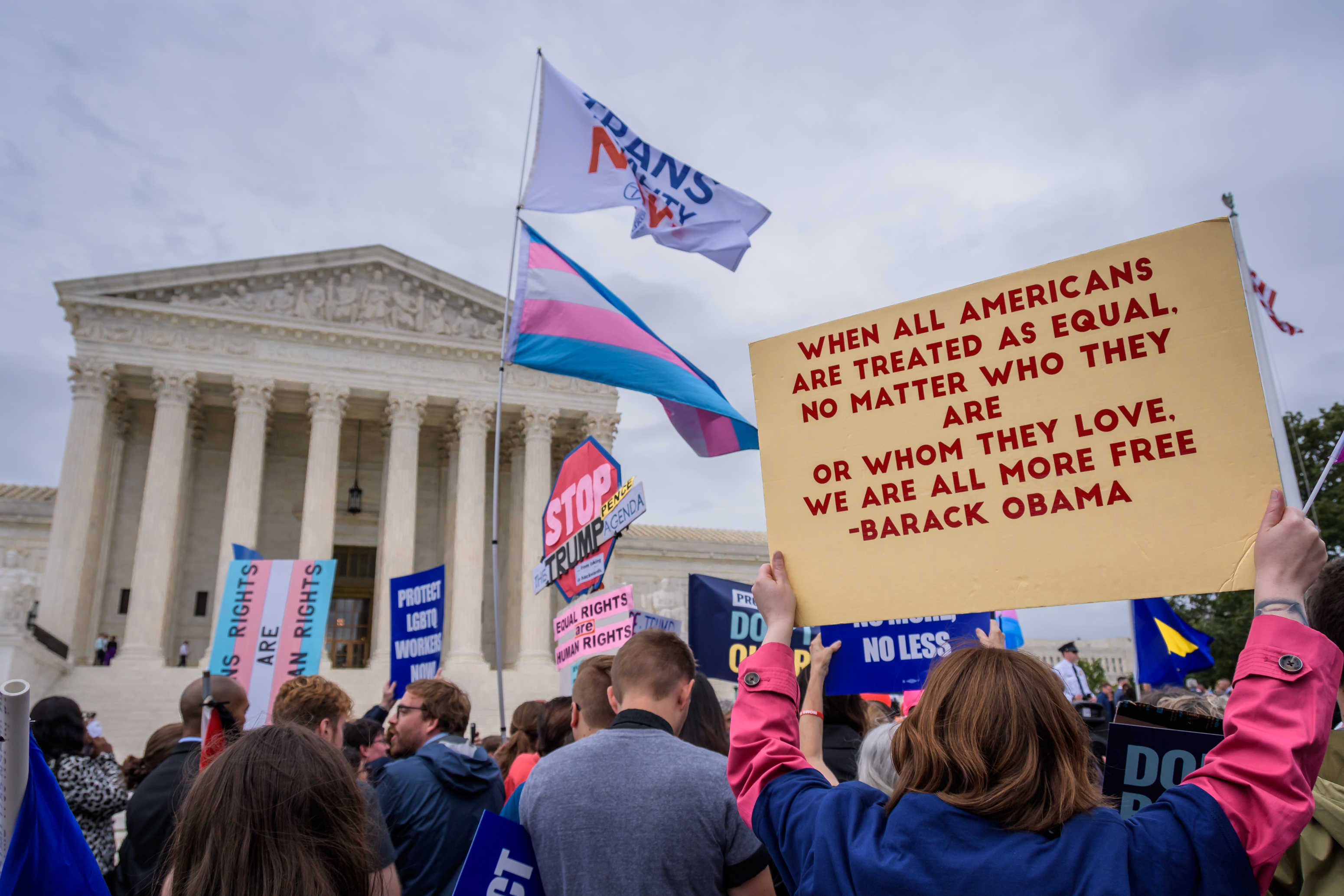 US: Protest at SCOTUS hearings on LGBTQ cases