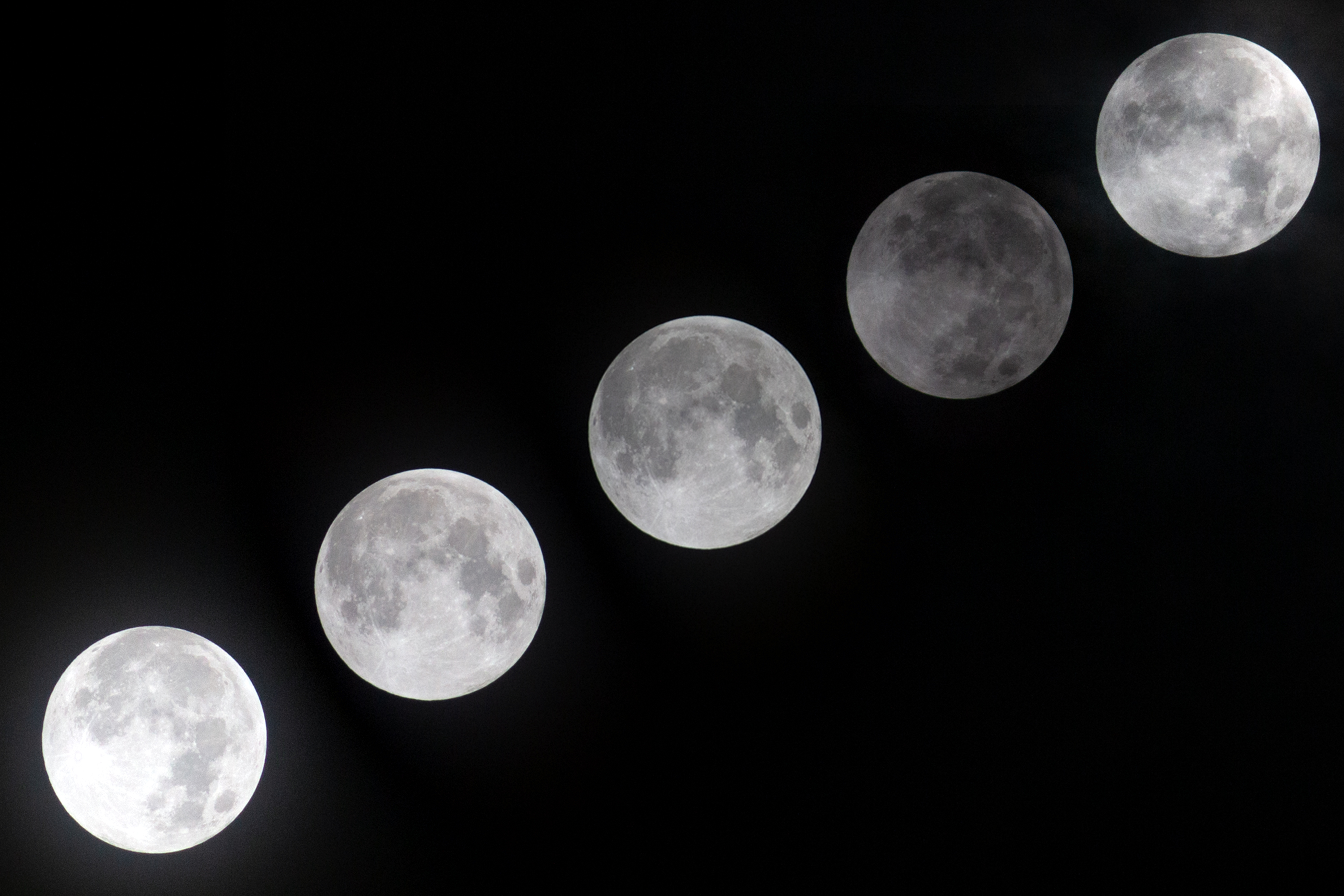 Sequence penumbral lunar eclipse at South Tangerang Indonesia