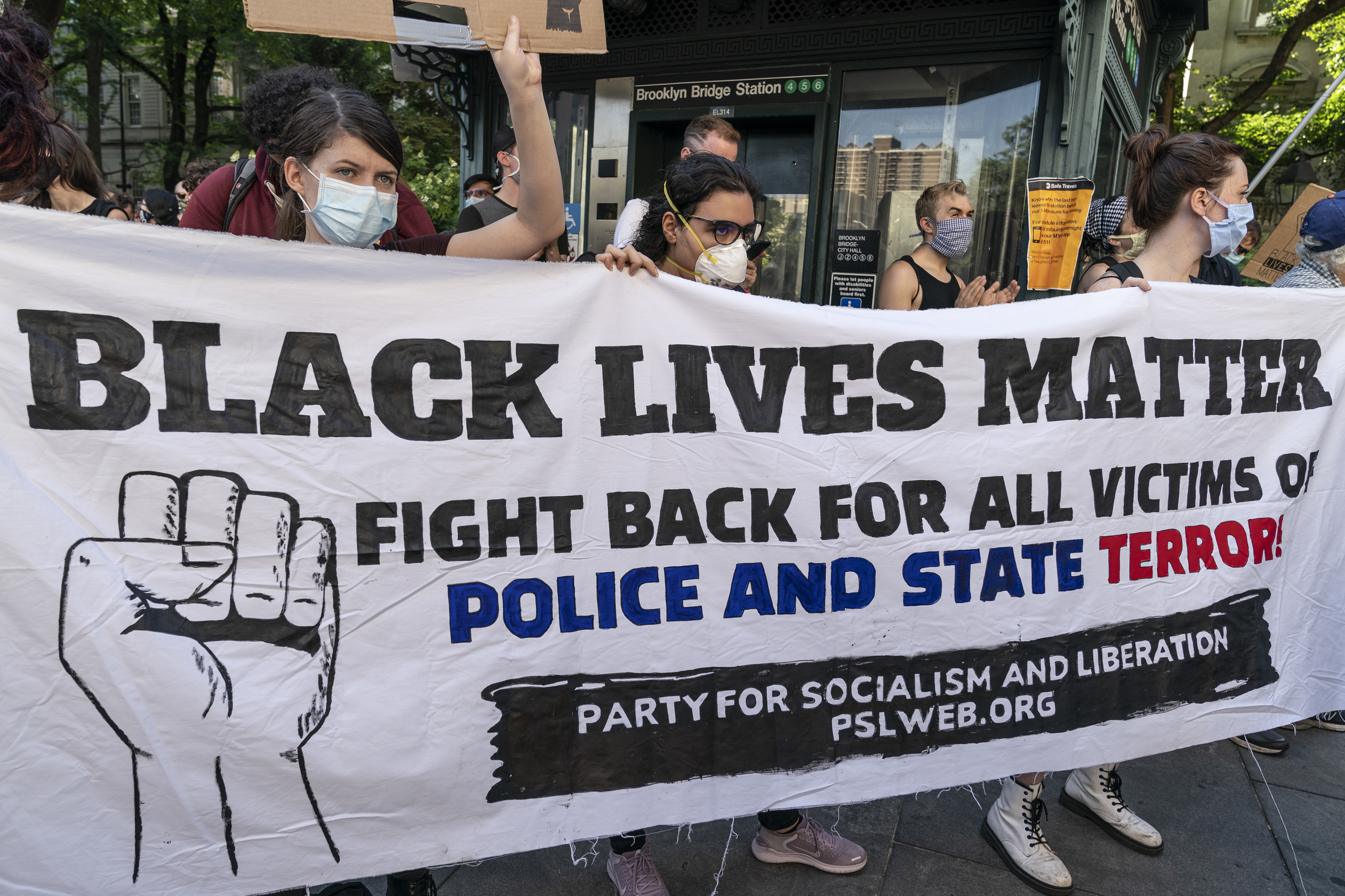 New York Police Protests Black Lives Matter