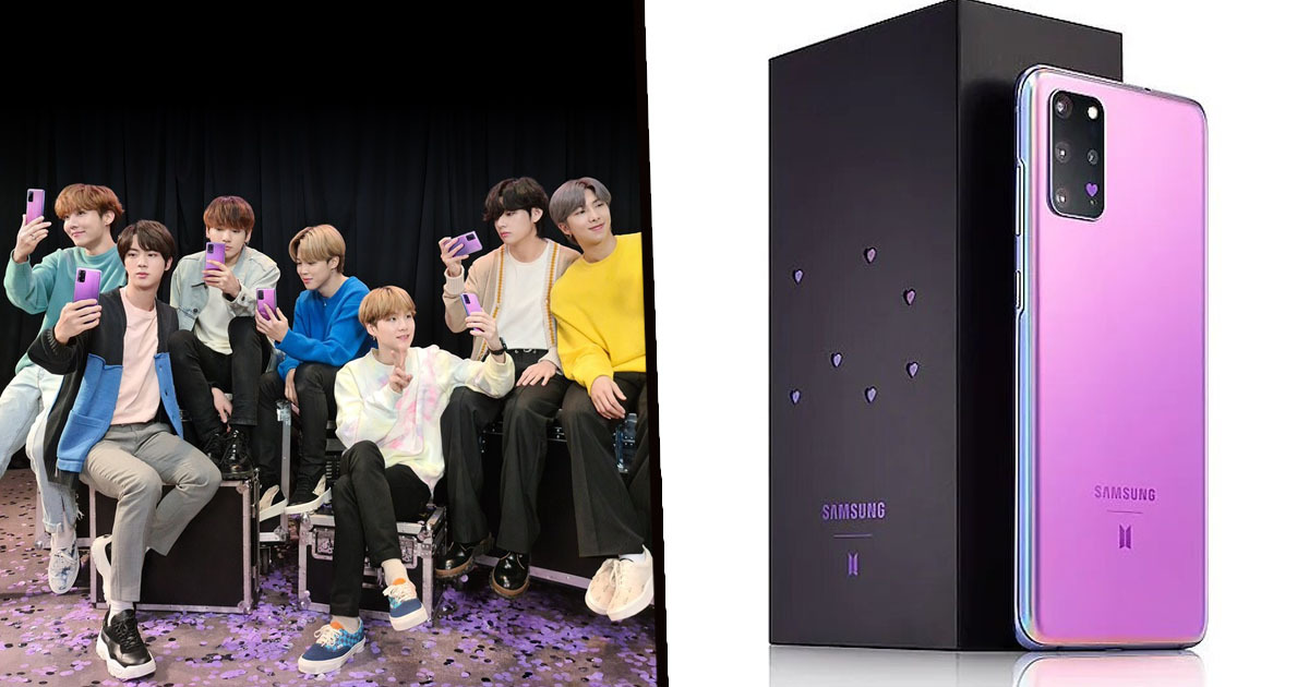 Samsung Teams Up With K-Pop Band BTS For Special Edition Galaxy S20 Plus