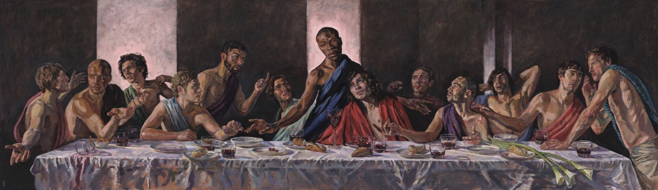The Last Supper With A Black Jesus