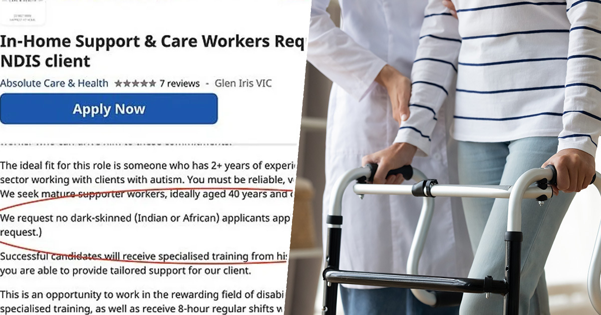 Care Home Job Says Dark-Skinned 'Indian Or African' People Should Not Apply