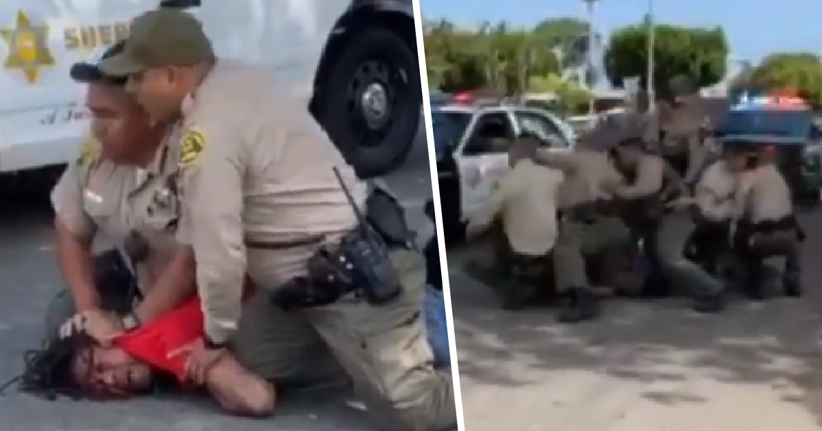 Cop Yells 'My Life Matters' As Dozen Officers Behind Him Forcefully Arrest Black Man