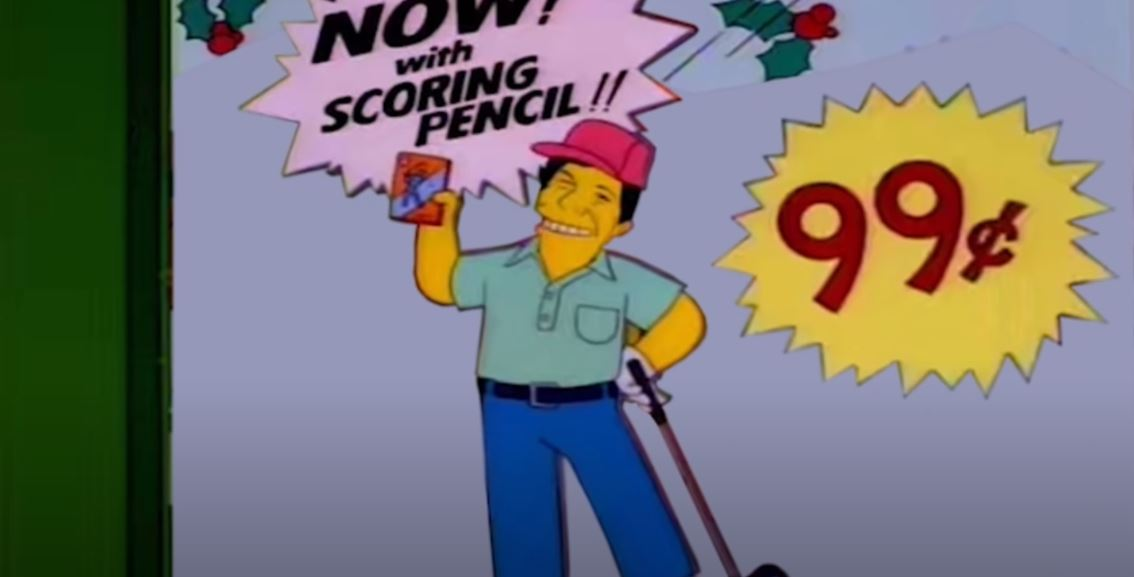 lee carvello's putting challenge the simpsons