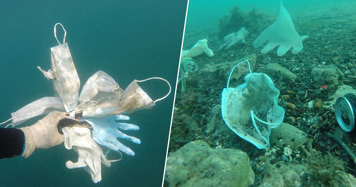 Disposable Masks Are Now Littering The Ocean
