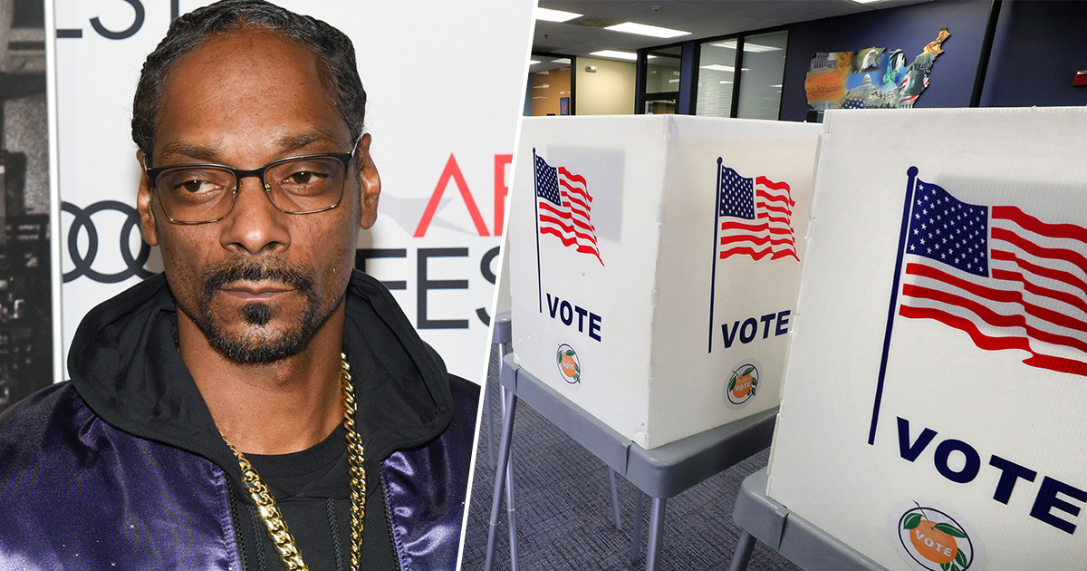 Snoop Dogg 'Brainwashed' To Think He Couldn't Vote Because of Criminal Record