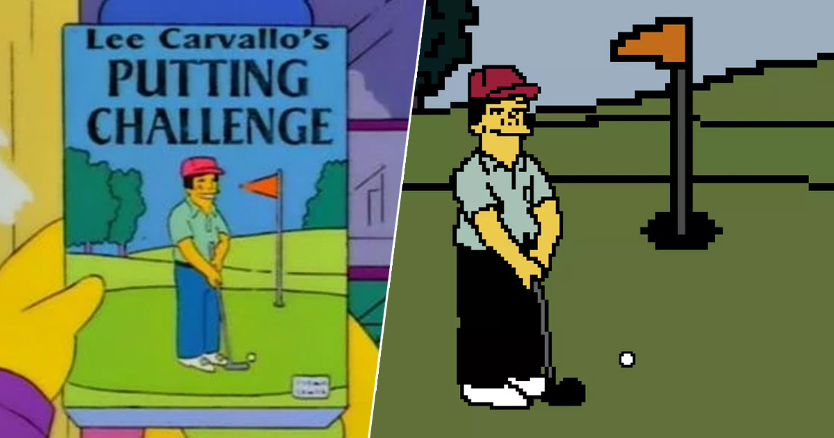 Someone Made The Lee Carvallo's Putting Challenge Video Game From Classic Simpson's Episode