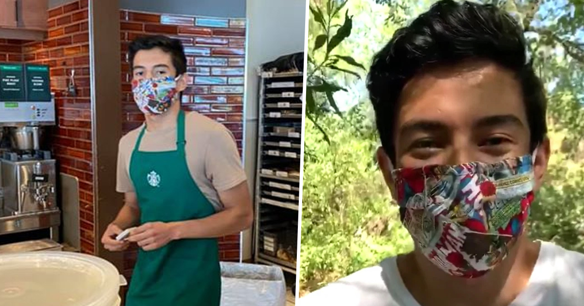 starbucks employee gets massive tips after refusing to serve maskless customer 1