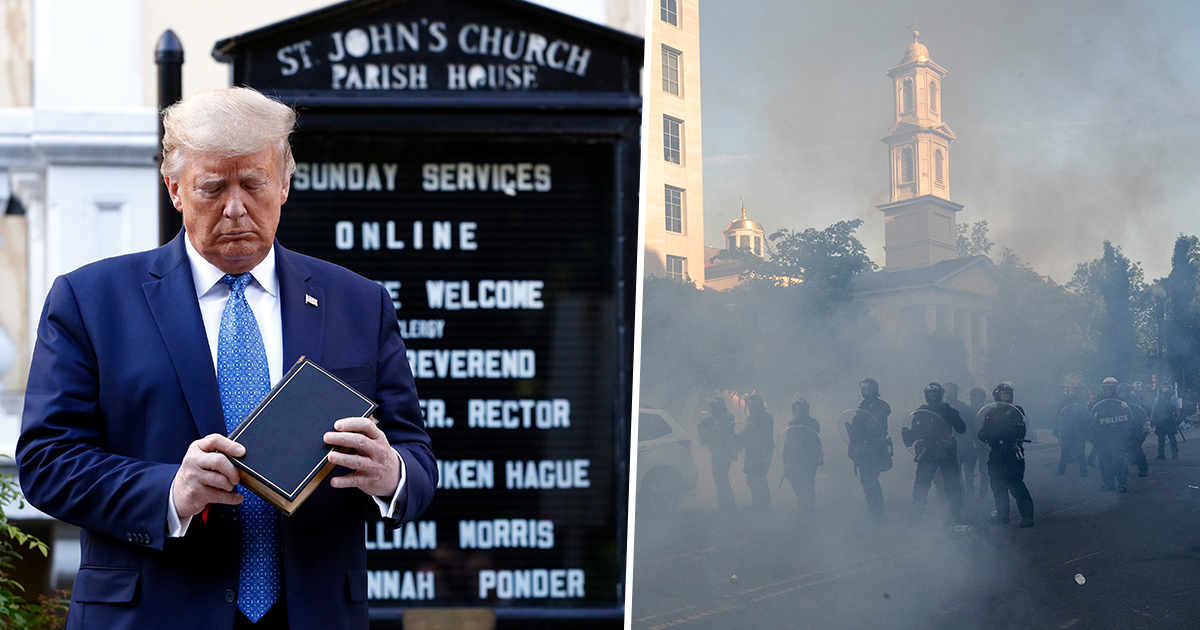 Peaceful Protesters Tear-Gassed Outside The White House So Trump Could Get Photo Op At Church