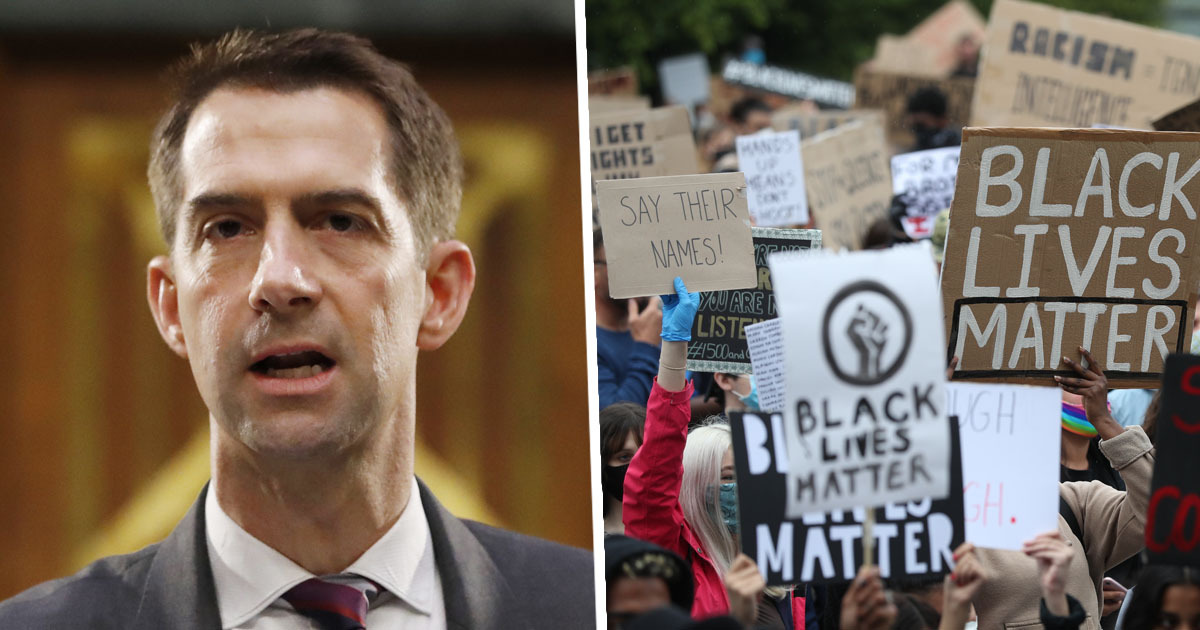 Senator Tom Cotton's Call For Military Response To Protests 'Endangers' Black New York Times Staff