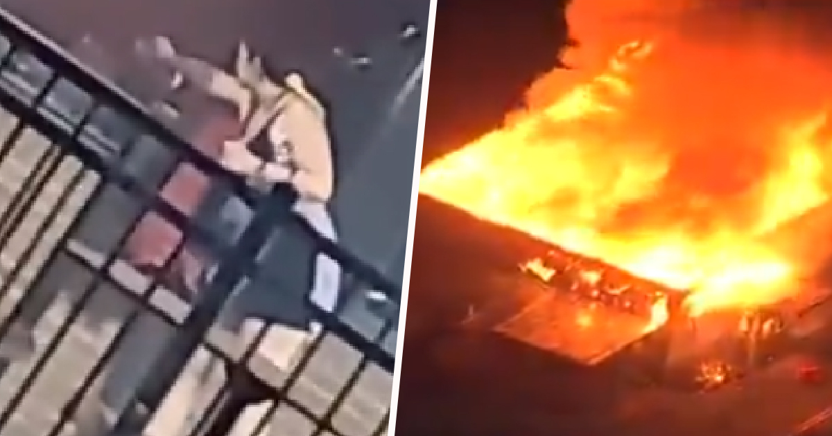 Footage Shows White Woman Setting Fire To Wendy's Where Police Killed Black Man