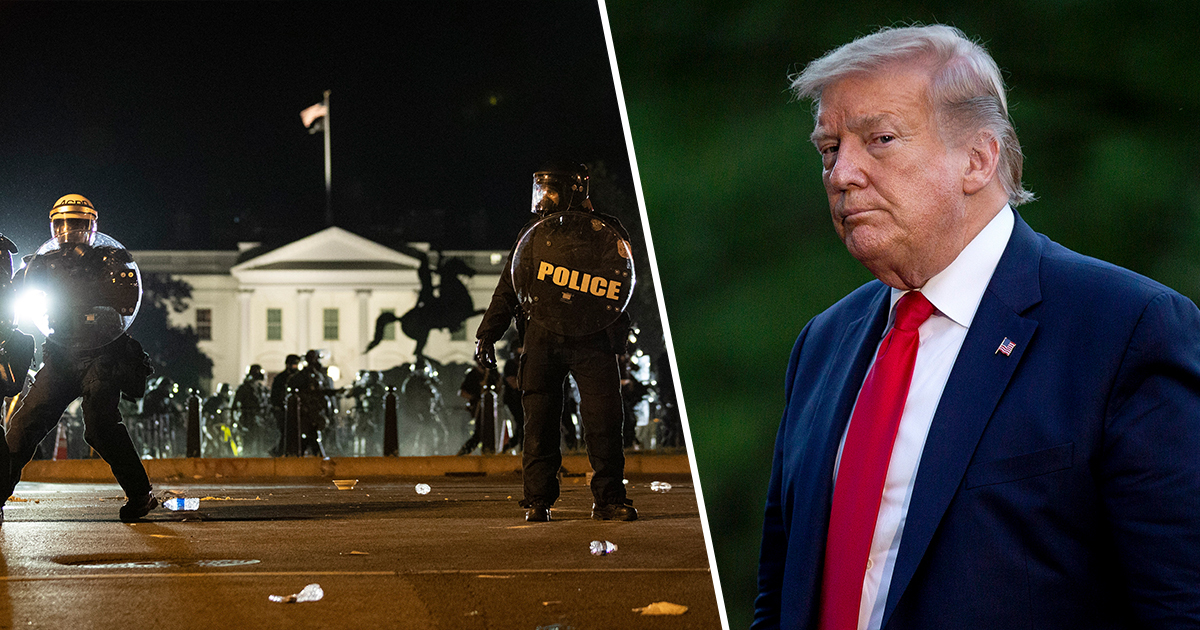 The White House Lights Go Dark As Protests Turn Violent In Washington