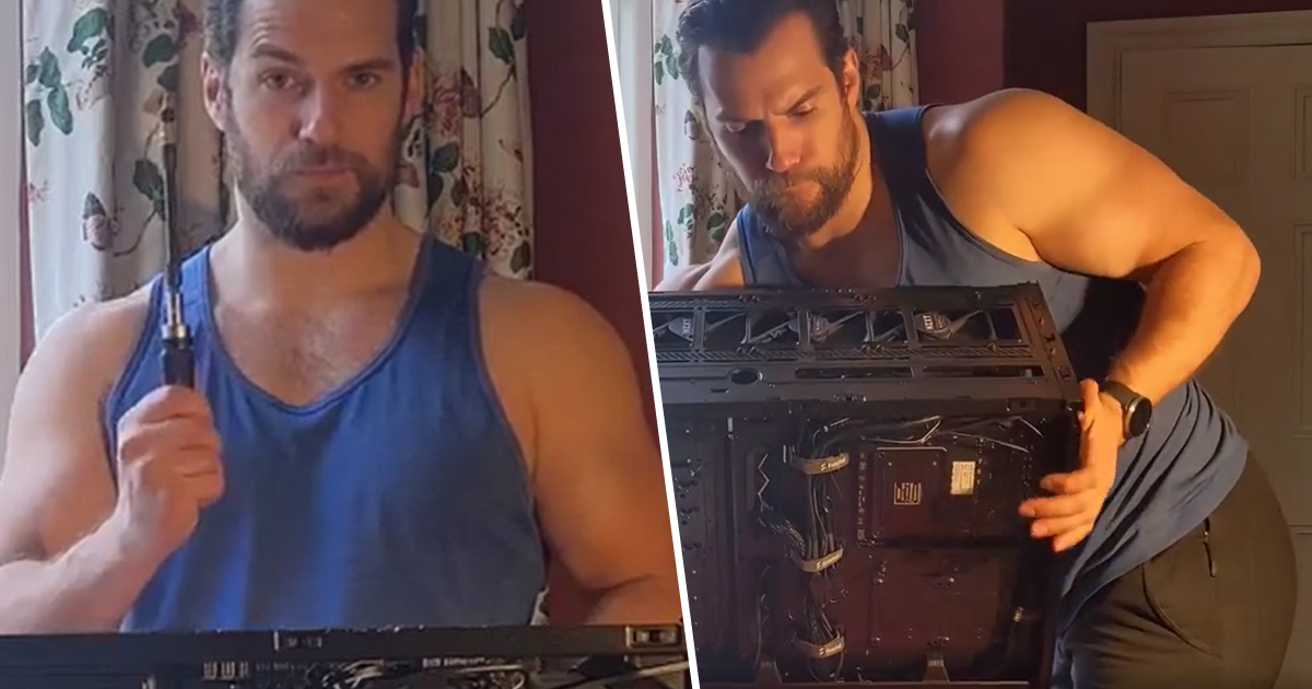 Henry Cavill Seductively Built A Gaming PC And Everyone Is Losing It