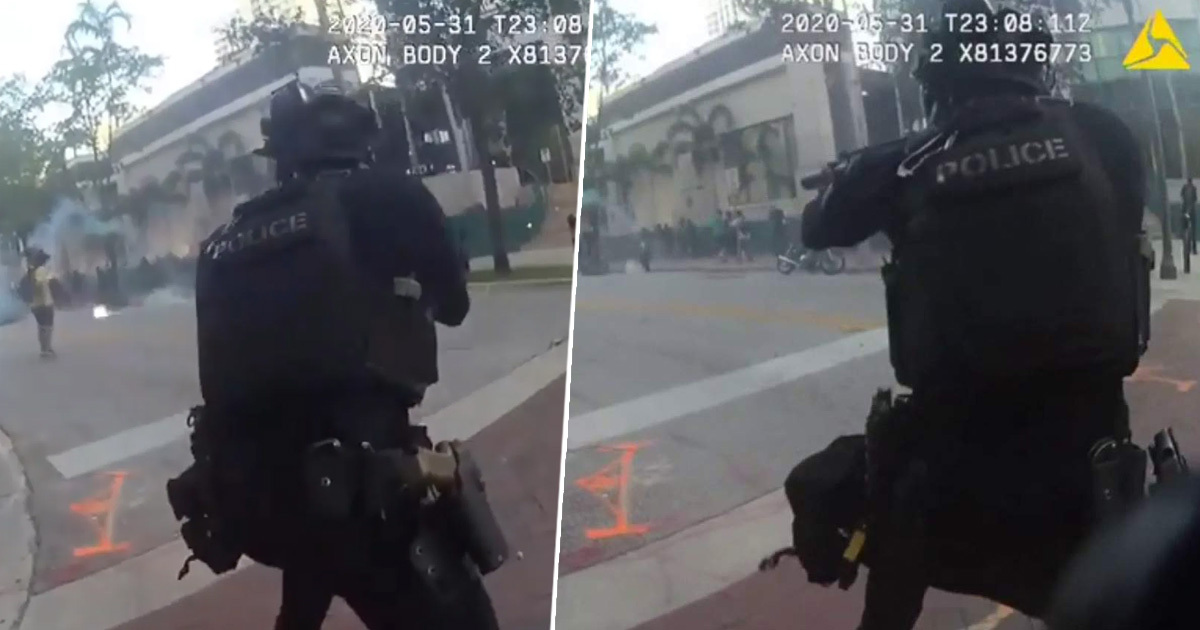 Bodycam Footage Shows Police Laughing While Shooting Rubber Bullets At Protesters