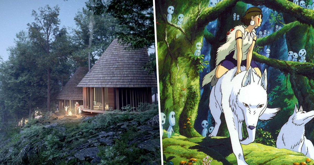 Japanese Camping Site Gives Travellers Studio Ghibli 'Princess Mononoke' Village Experience