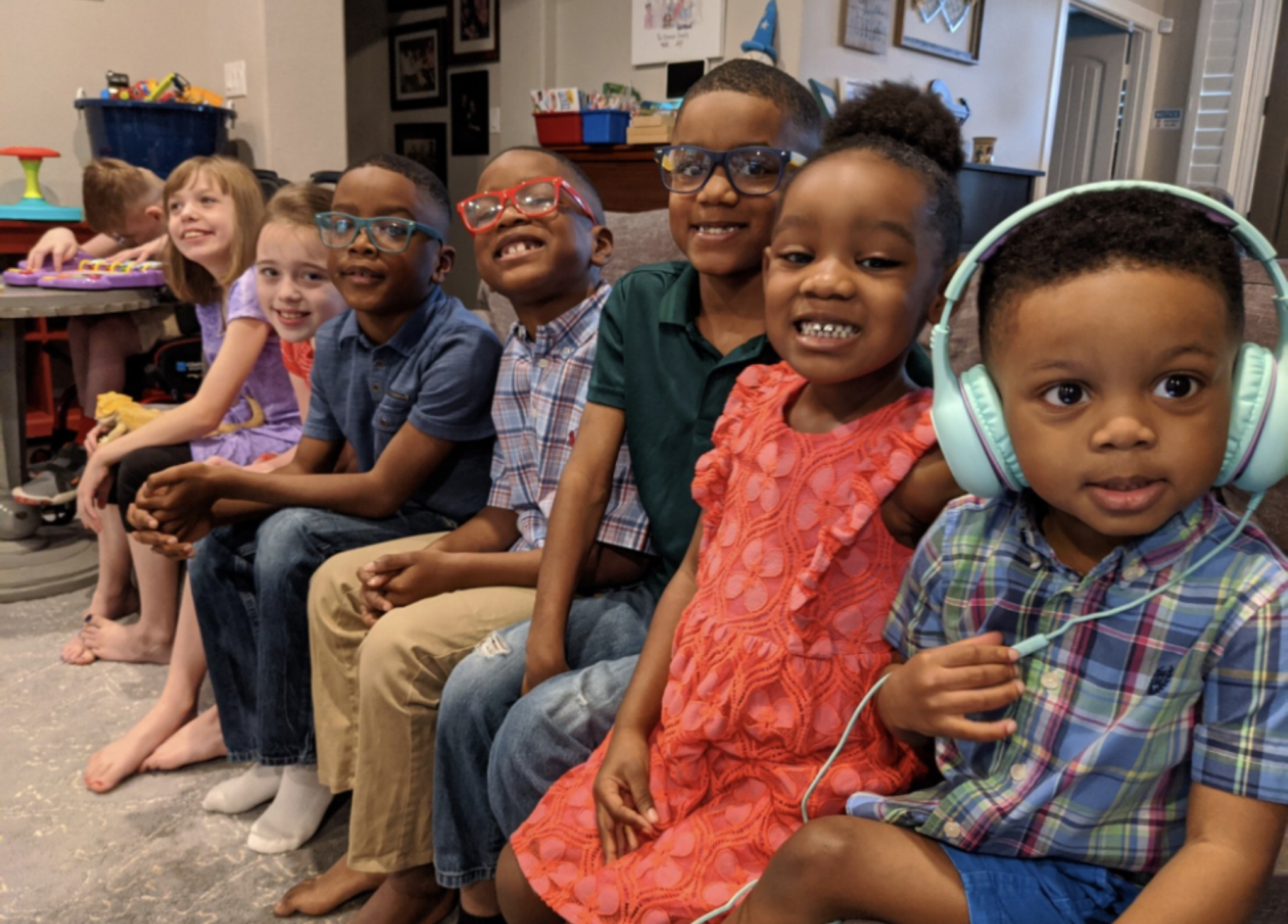 Parents Adopt Five Biological Siblings After Learning They Were Separated In Foster Care