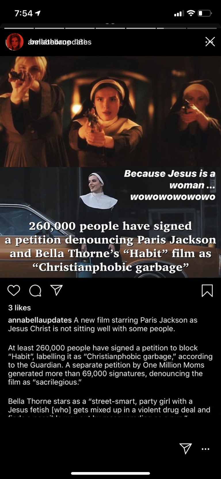 Petition To Pull Movie Starring Michael Jackson's Daughter As Lesbian Jesus Nears 300,000 Signatures