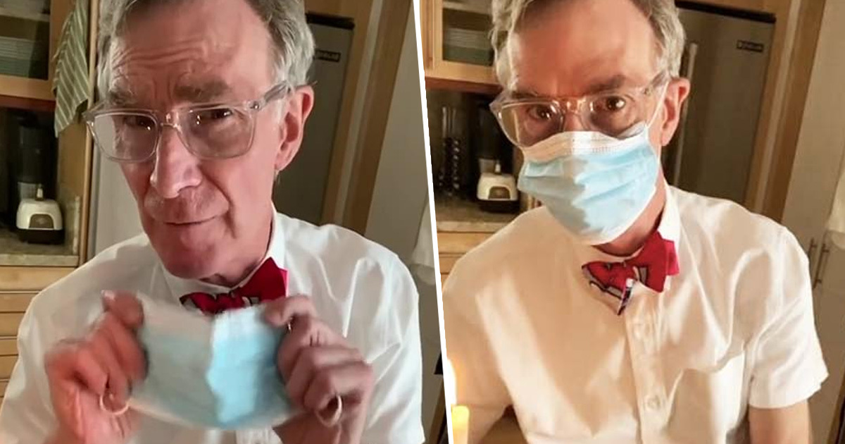 ​Scientist Bill Nye Did An Experiment On TikTok To Show How Effective Face Masks Can Be