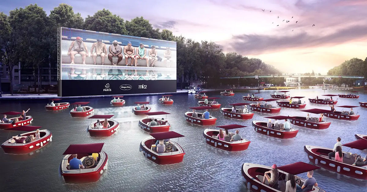 Floating Movie Theater Where You Sit In Socially Distant Boats Coming To Paris