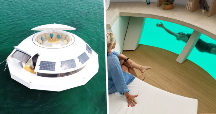 Futuristic Floating Pod Inspired By James Bond Film Can Be Sailed Around The World