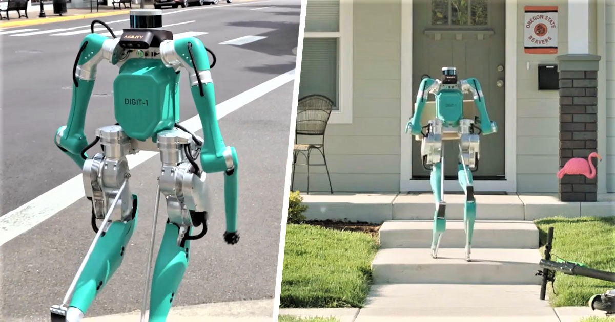 Ford's New Delivery Robot Walks On Two Legs Like A Person