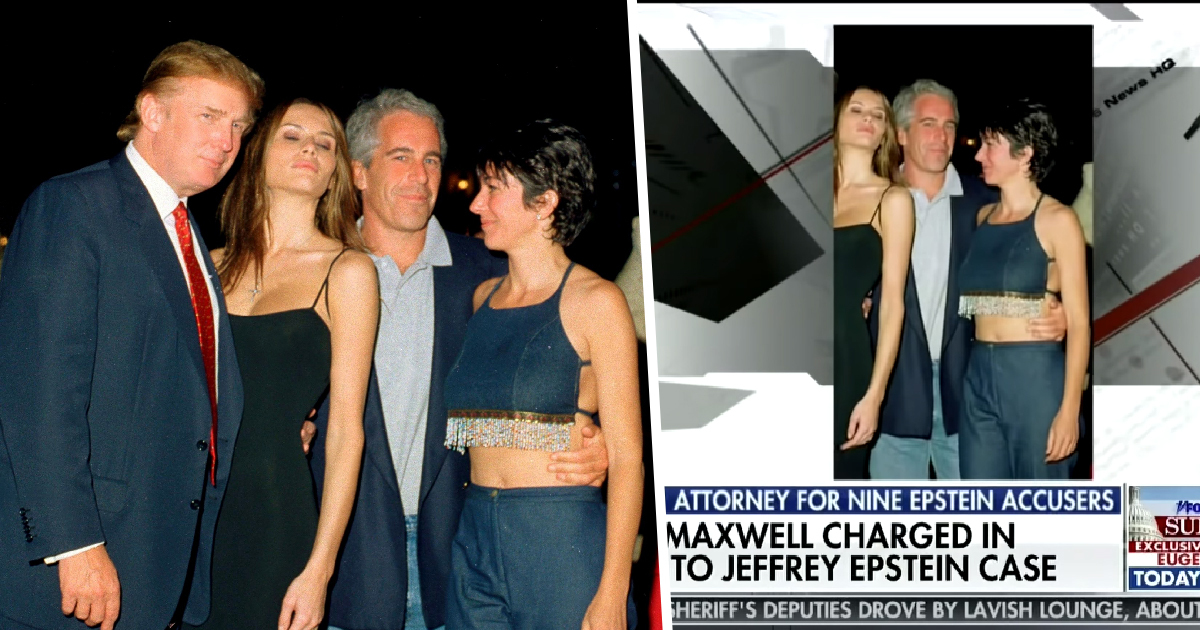 Fox News Edits Trump Out Of Jeffrey Epstein Photo But Leaves In Melania