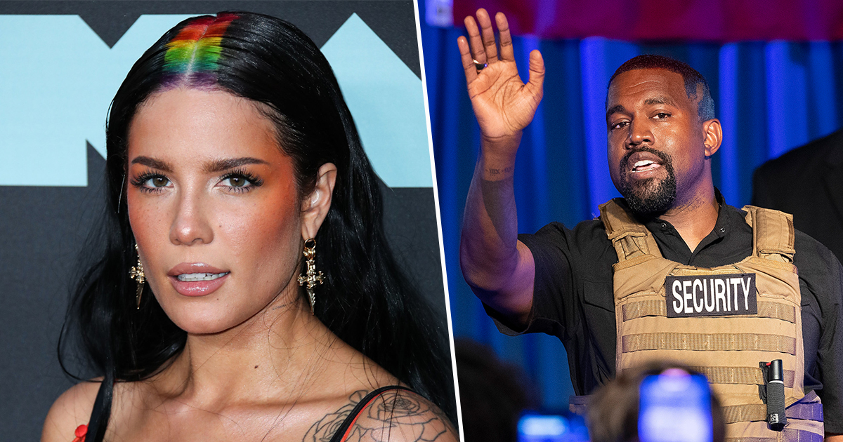 Halsey Defends Kanye West's 'Manic Episode' While Asking Fans To Leave Him Alone