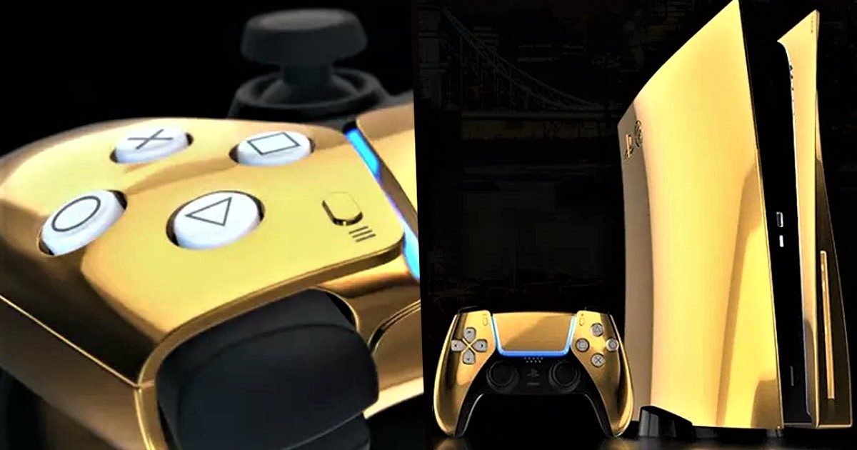 Limited Edition 24K Gold-Plated PS5 Will Be Released This Year