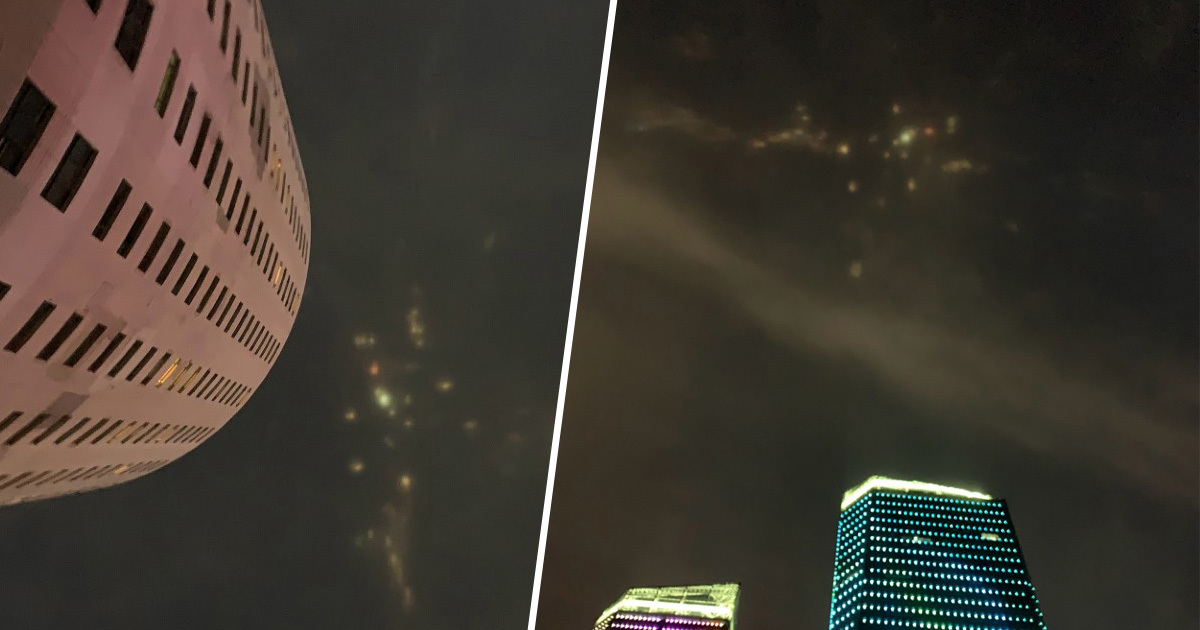Mysterious Coloured Lights In Night Sky Spark UFO Scare