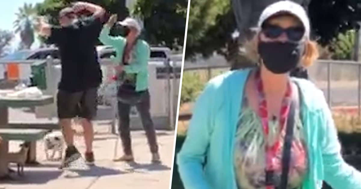 Woman Maces Couple For Not Wearing Masks While Eating Lunch In San Diego