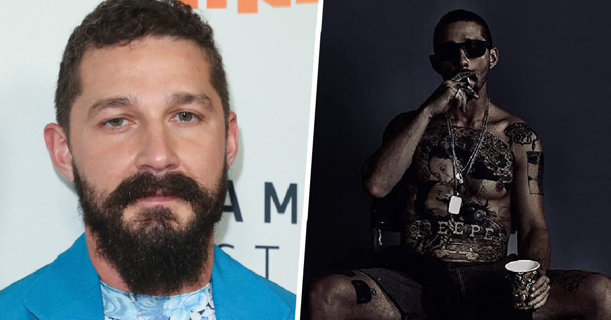 Shia LaBeouf Gets Huge Chest Tattoo To Get Into Character For New Role
