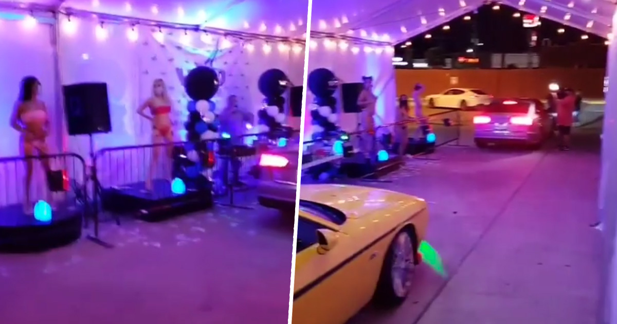 Drive-Thru Strip Club Offers Dances To Drivers From Behind Steel Barricades