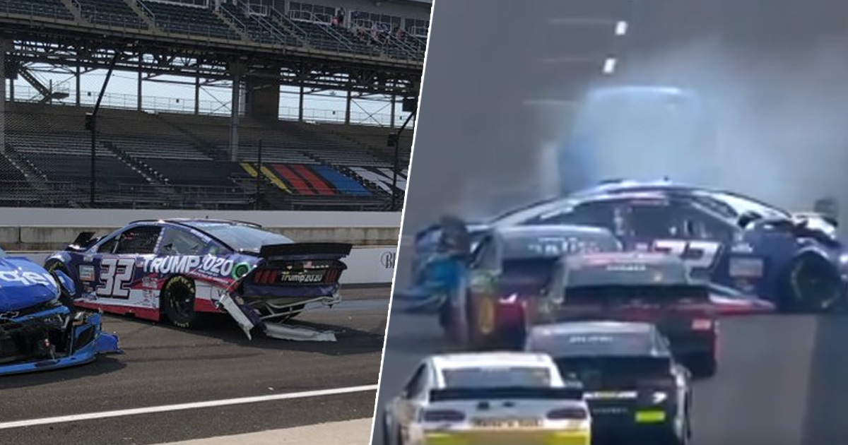 Trump 2020 Car Wrecked Just 16 Laps Into 170-Lap NASCAR Race