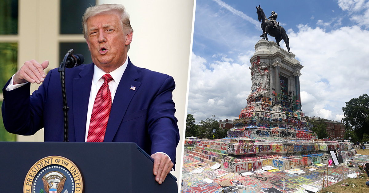 Trump Threatens '10 Years In Prison' For Anyone Harming Monuments