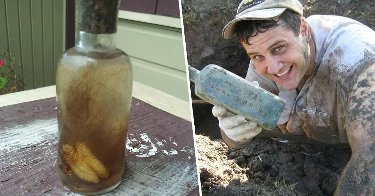 New Orlean Man Finds 'Witch Bottle' With Teeth Inside Buried In Ground By Mississippi River