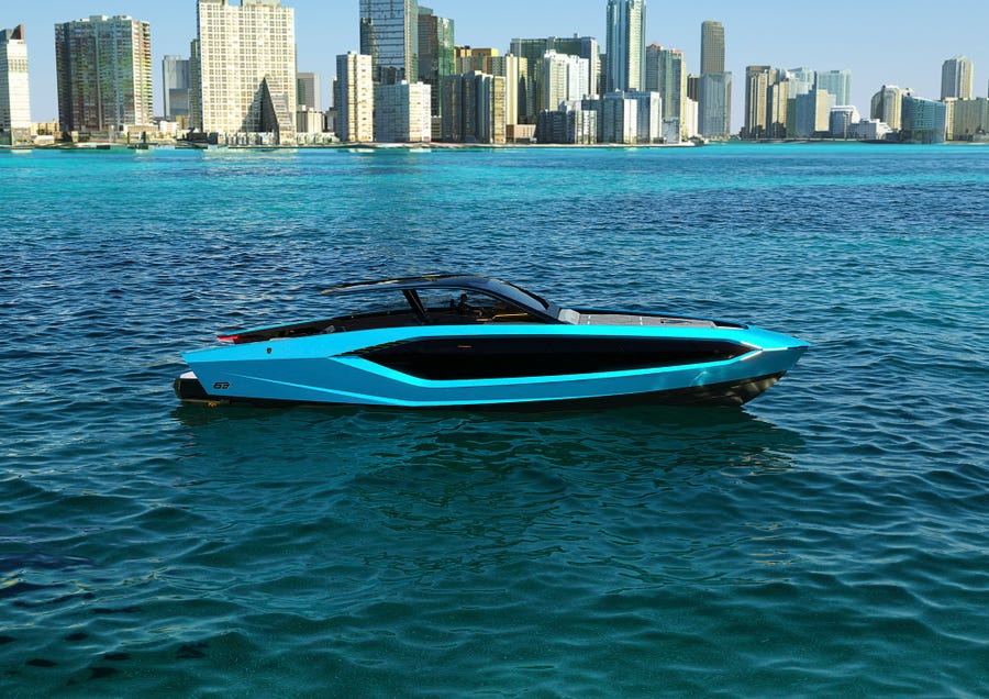 yacht that looks like supercar