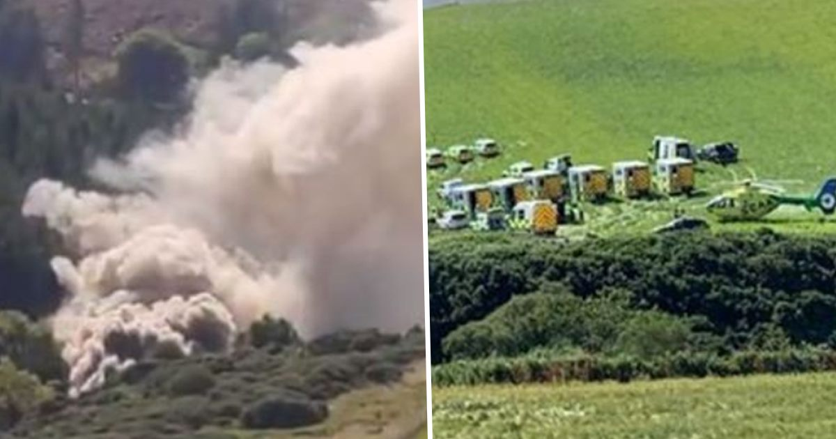 Train Comes Off Tracks And Rolls Down Embankment In Scotland