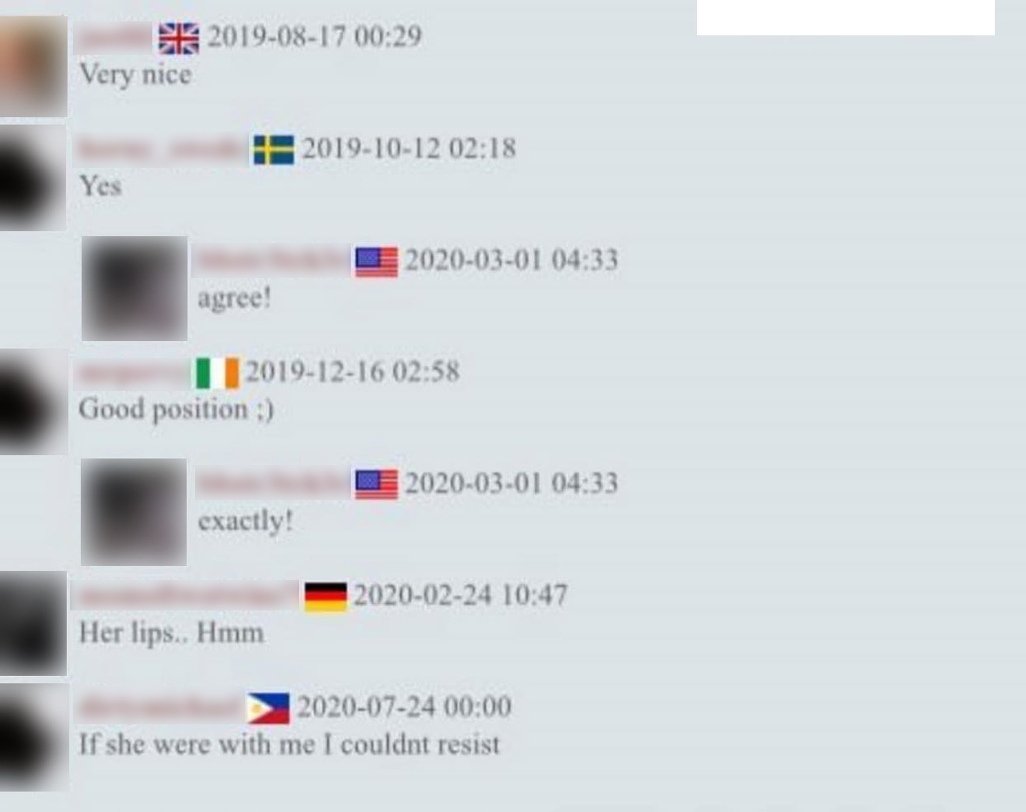 Comments from users of Russian website