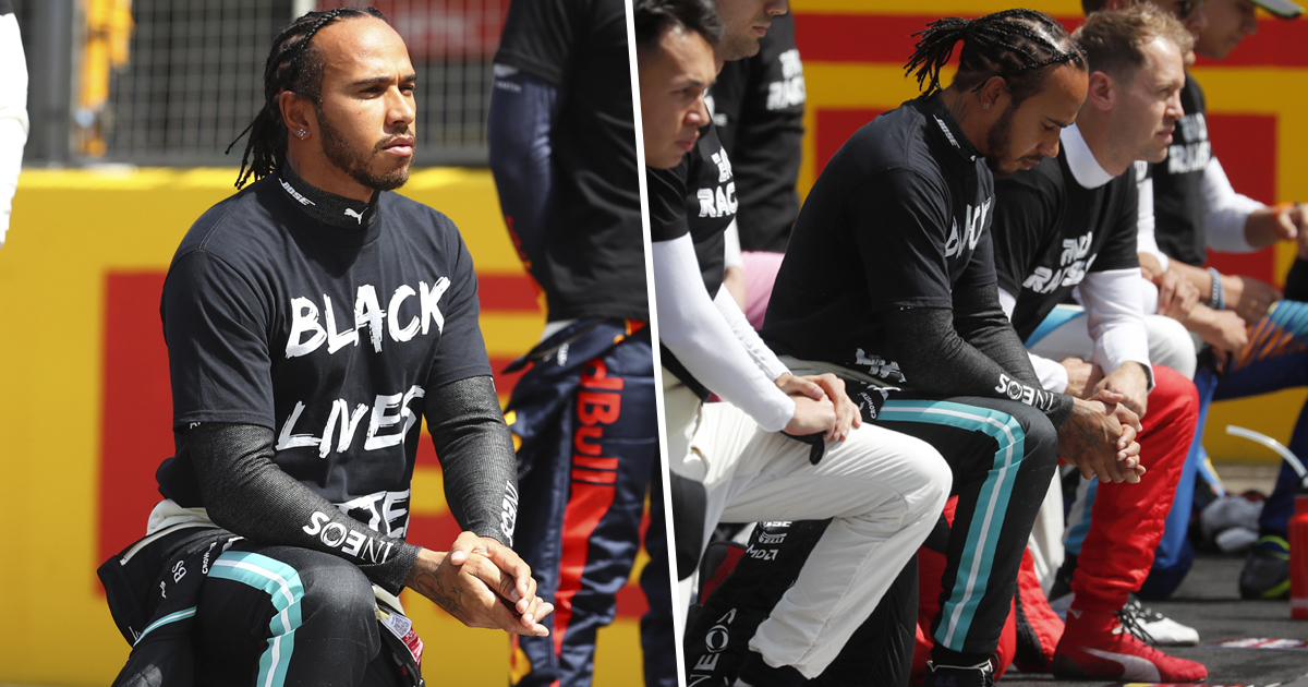 Lewis Hamilton Calls Out Formula One Rivals For Not Taking A Knee