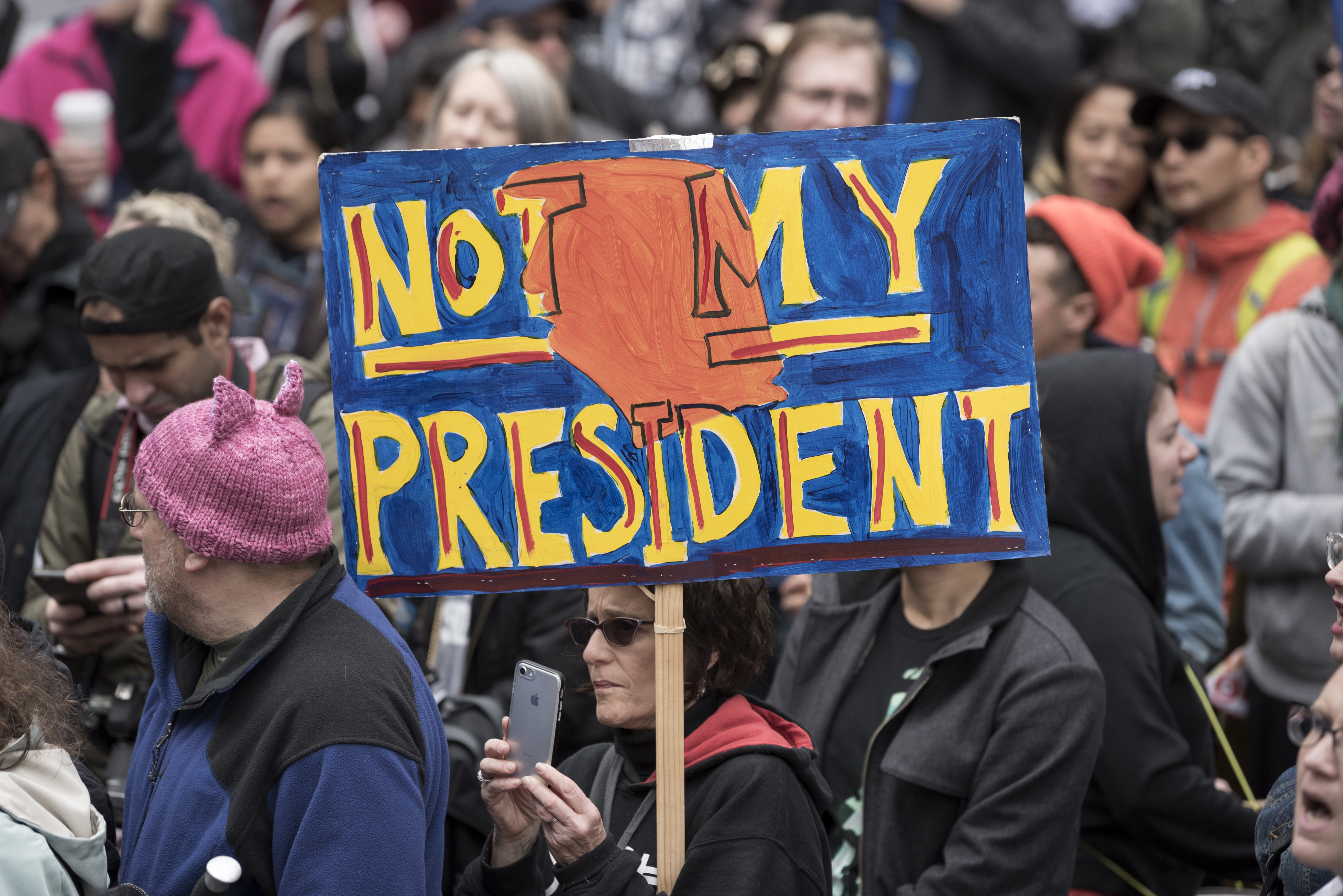 CA: Anti-Trump Presidents' Day protest in Los Angeles