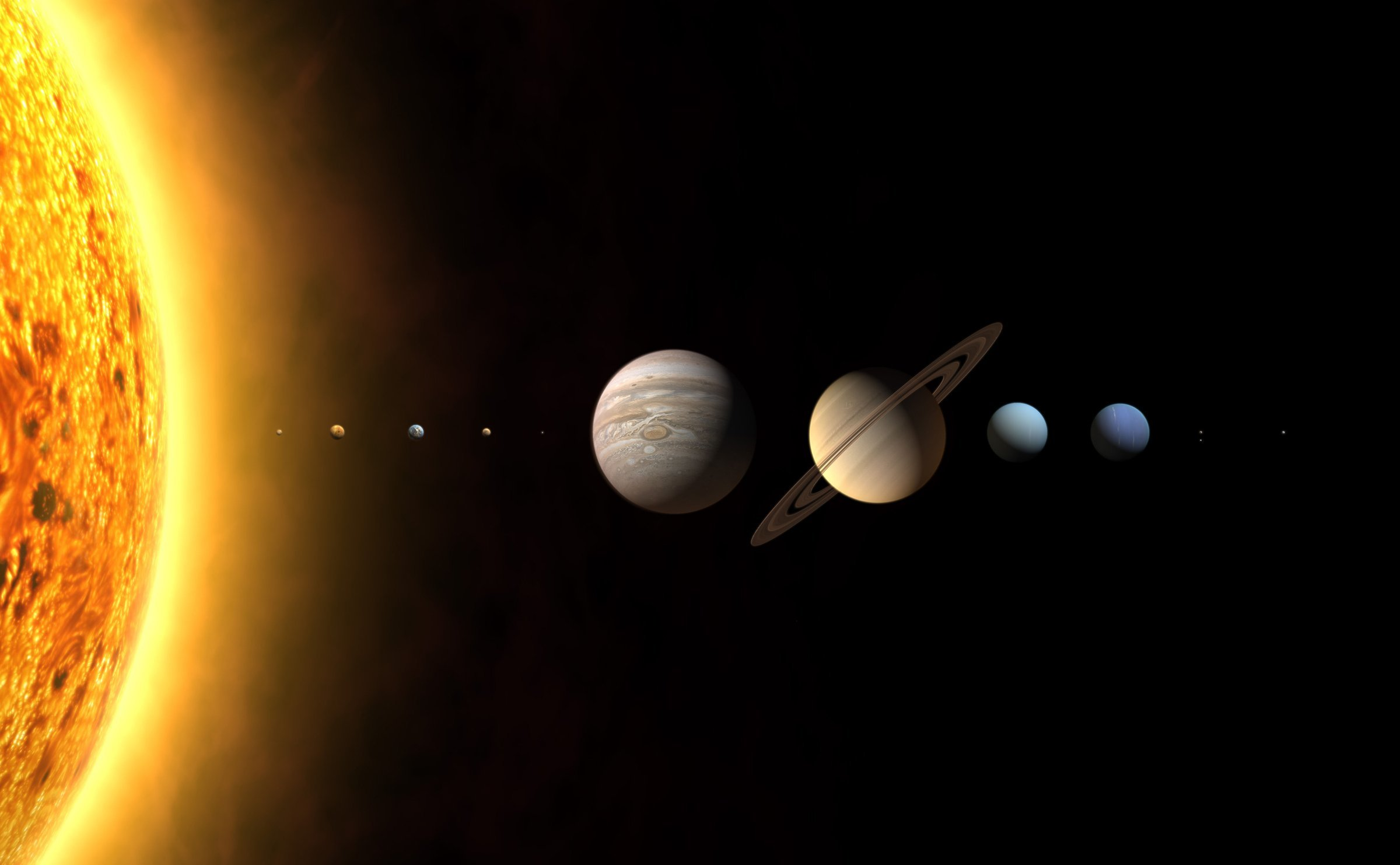 Growth of the solar system - presumably three new planets