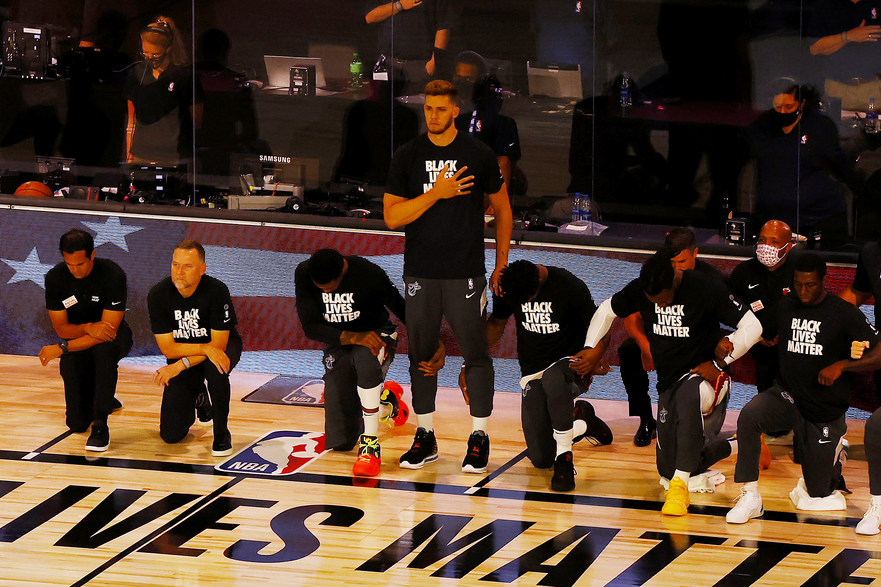 NBA's Meyers Leonard Second Player To Stand For National Anthem Since League Reopening