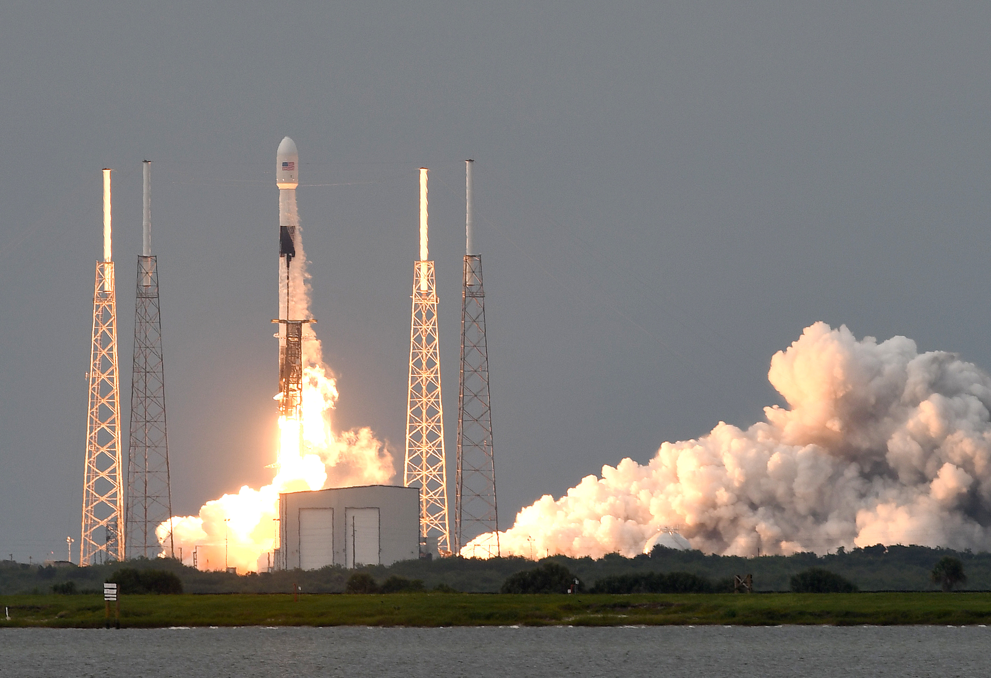 SpaceX Launches Earth Observation Satellite for Argentina in Cape Canaveral, US - 30 Aug 2020