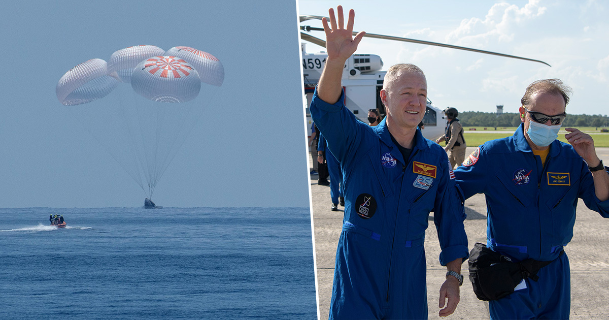 SpaceX Brought Two NASA Astronauts Back To Earth Safely