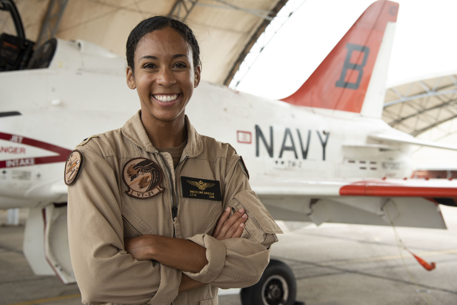 LTJG Madeline Swegle, U.S. Navy's first Black female tactical jet aviator