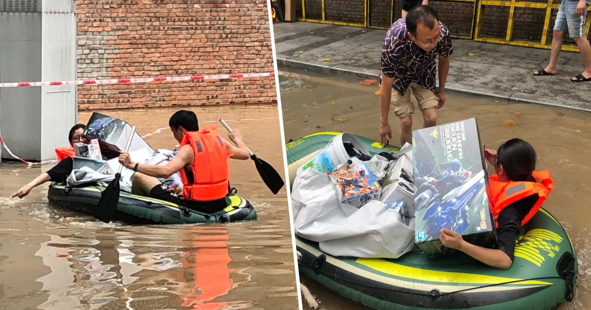 Woman Breaks Windows To Rescue Husband's Action Figure Collection From Flood In China